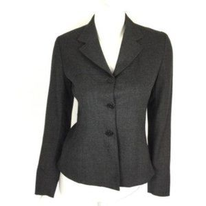 Barneys New York Wool Blazer Gray 42 8